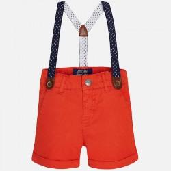 Едноцветни къси панталонки с тиранти