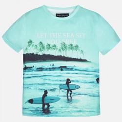 Тениска с принт стил сърф