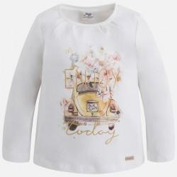 Блуза с принт кола за момиче
