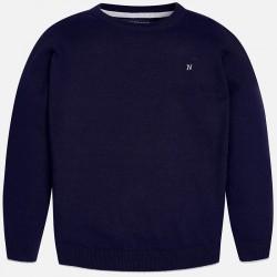 Памучен едноцветен пуловер