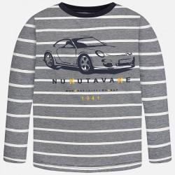 Раирана блуза със спортен автомобил