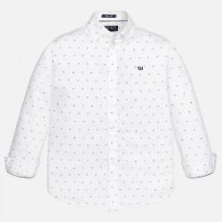 Риза с дребен принт и лого