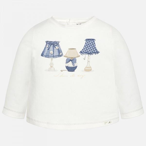 Блуза с принт лампи