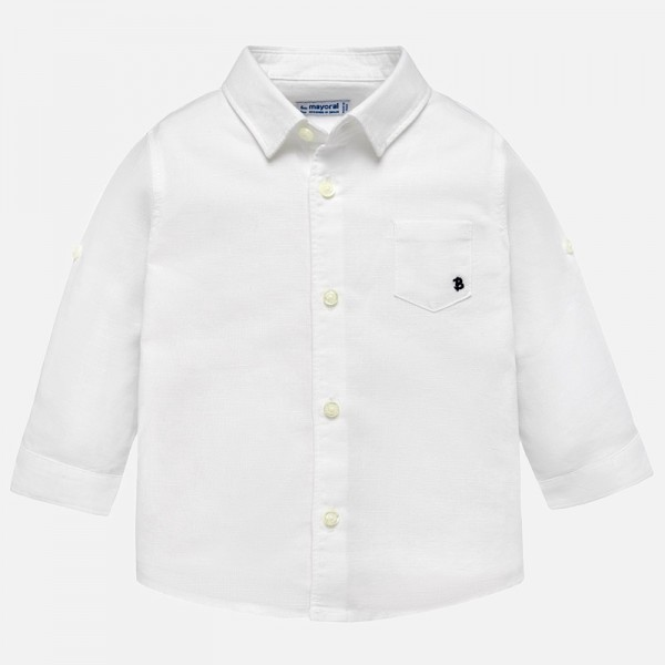 Бяла ленена риза
