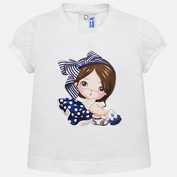Тениска с принт момиченце