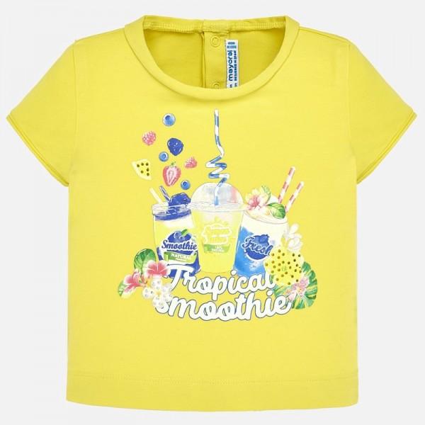 Тениска със принт смутита