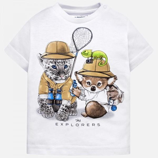 Тениска с принт животинки