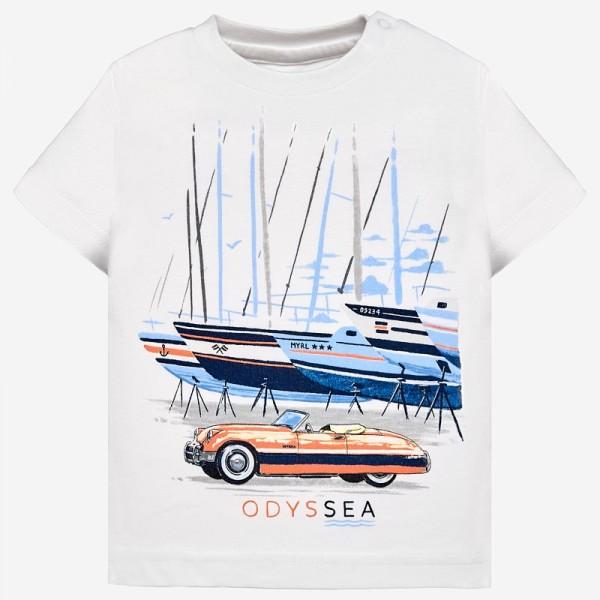 Тениска с лодки и автомобил
