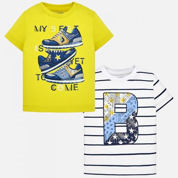 Комплект тениски за момче с принт кецове Baby
