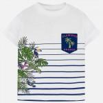 Тениска райе фламинго