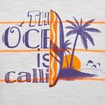 Тениска райе с палма