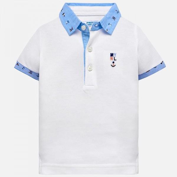 Поло тениска с контрастни детайли