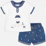 Комплект тениска и къси панталонки с принт / Newborn/