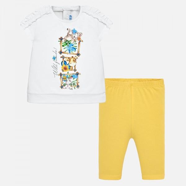 Комплект клин и тениска с животни