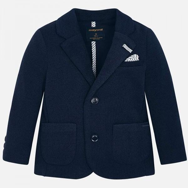 Плетено сако с джобове за момче