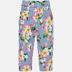 Панталон райе с флорален принт