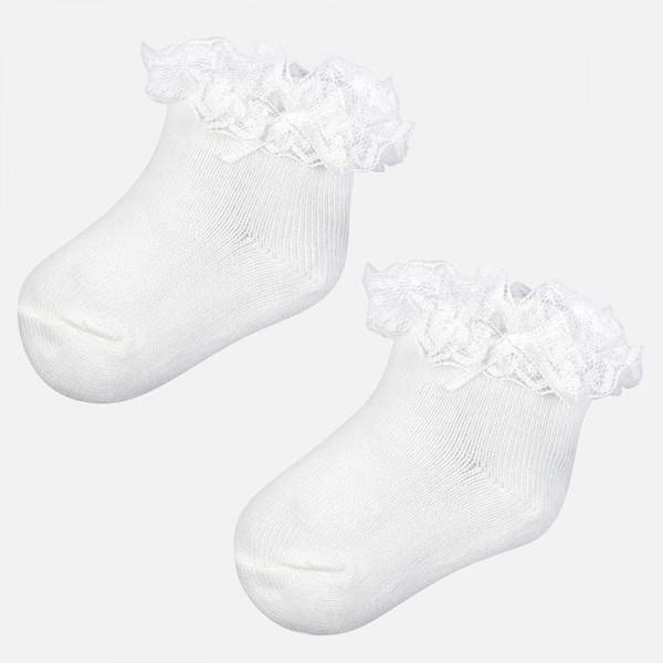 Чорапки с къдрички  Newborn