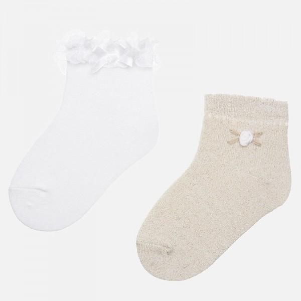 Комплект чорапки с дантела