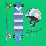 Тениска с принт скейтборд