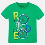 Тениска с принт велосипед