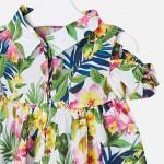 Риза с флорален принт и отворени рамене