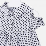 Риза на точки с отворени рамене