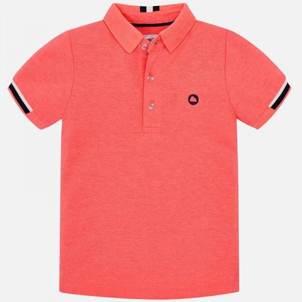 Поло тениска с контрастни детайли за момче