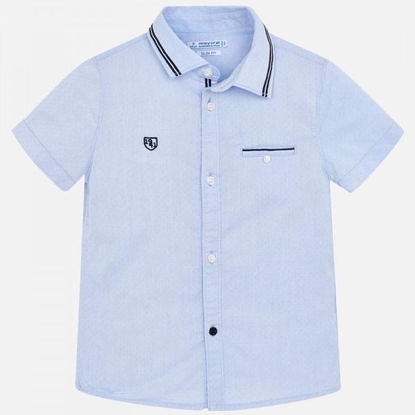 Риза с цветен кант