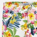 Къси панталонки с тропически принт