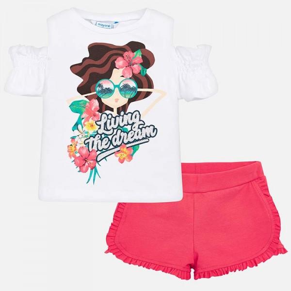 """Комплект тениска и къси панталонки """"Living the dream"""""""