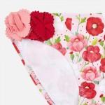 Комплект бански -долна част с къдрички и цветя