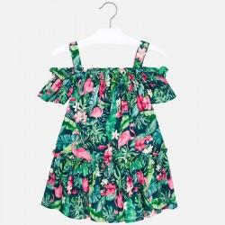 Цветна рокля с тънки презрамки