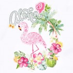 Рокля с пайети фламинго