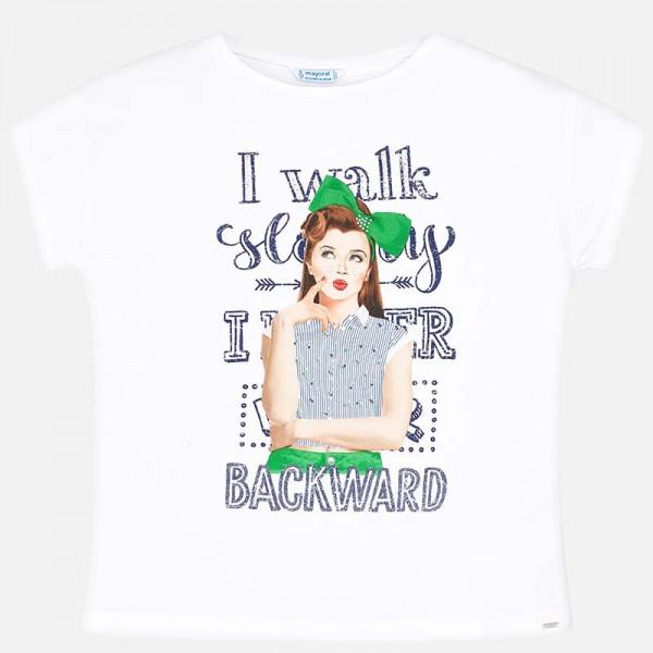 Тениска момиче с панделка