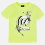 Тениска с принт спортисти