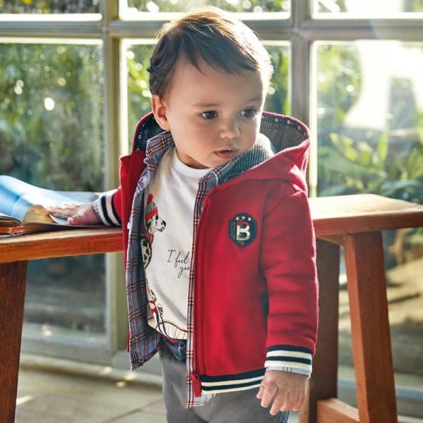 Суитчър с апликация за момче Baby серия