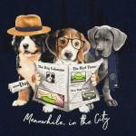 Блуза с принт кученца