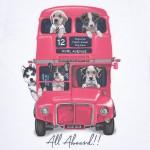 Блуза автобус с кучета