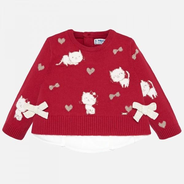 Пуловер с котенца