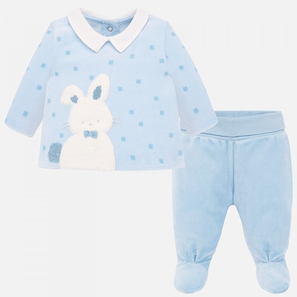 Комплект блуза и ритънки със зайче