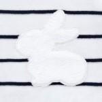 Комплект плюшени гащеризони с апликация зайче