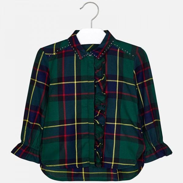 Риза каре с къдрички за момиче
