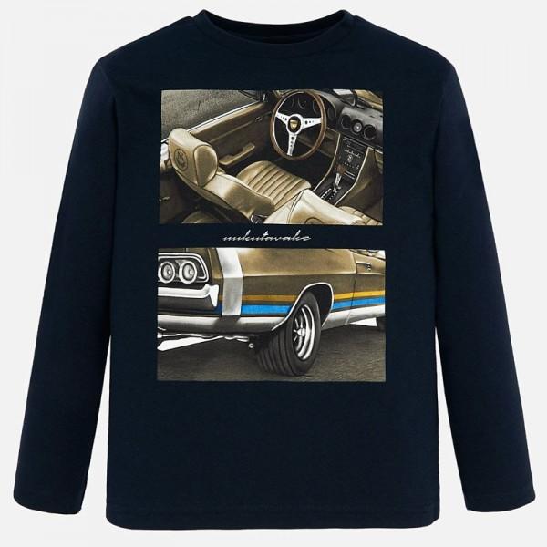 Тениска с принт ретро автомобил