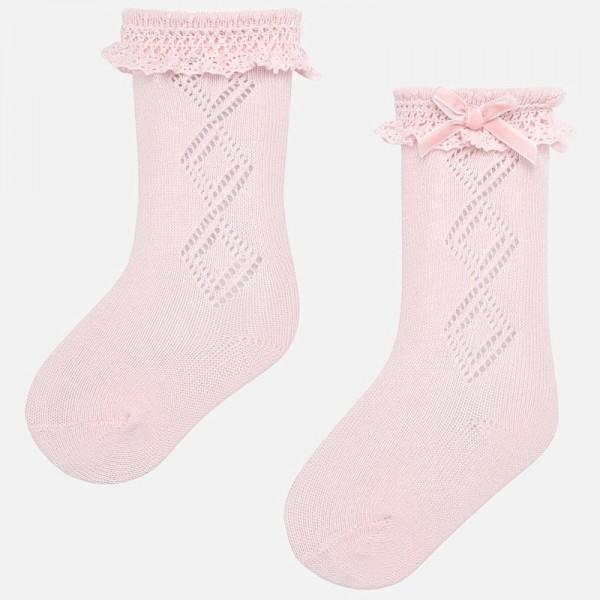 Дълги чорапи с къдрички Newborn серия