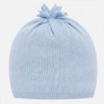Плетена шапка за новородено бебе