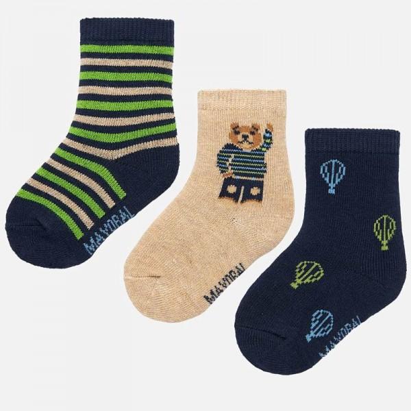 Комплект чорапи с мече за бебе момче