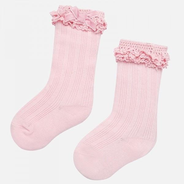 Чорапи с панделка за бебе момиче