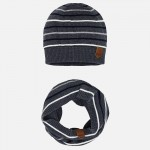 Комплект шапка и шал в райе за момче