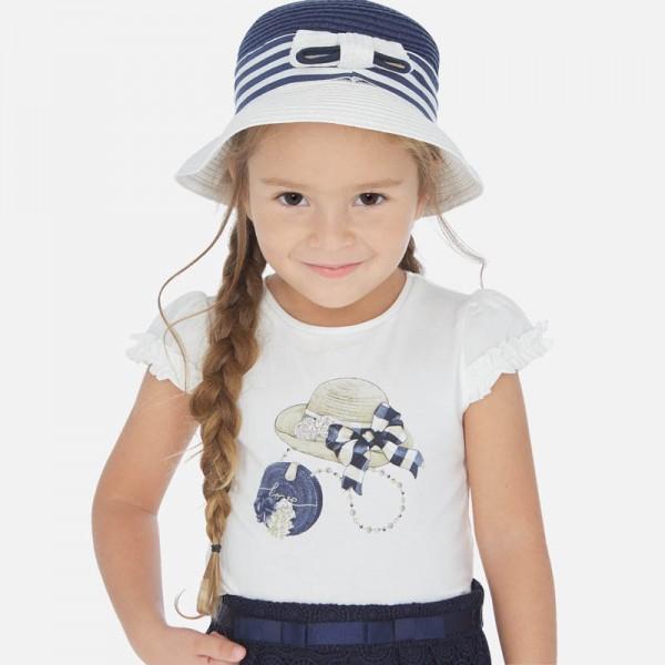 Тениска с принт шапки