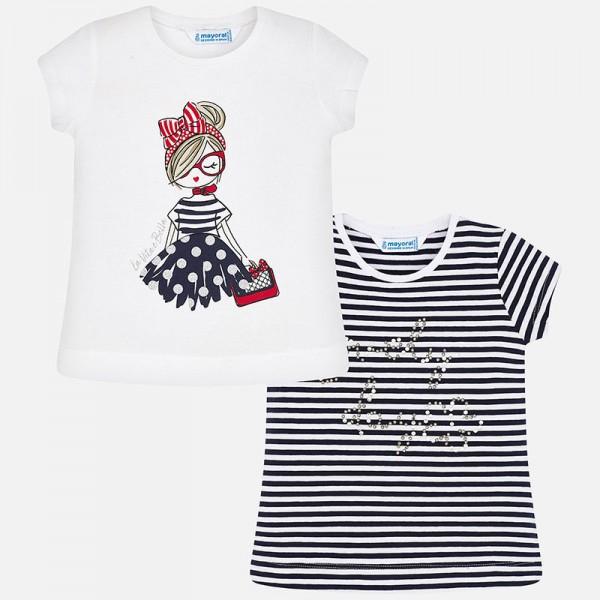 Комплект тениски с момиче